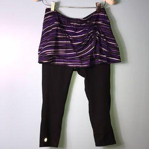 Athleta Leggings Attached Skirt Small Capri